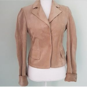Gucci suede leather tan jacket S